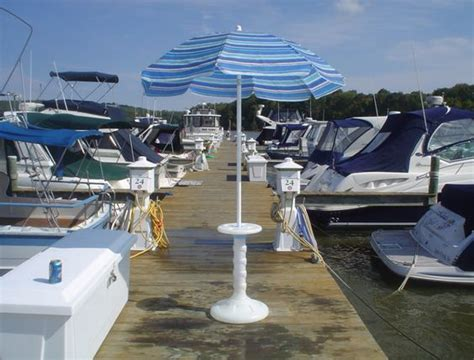 table shade for the boat dock sun station multi purpose