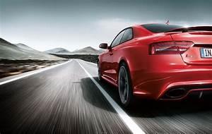 Audi Red Road Speed Car