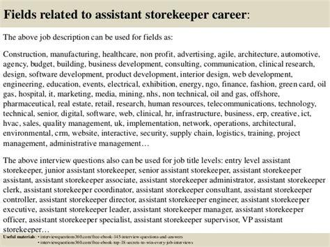 navy storekeeper resume