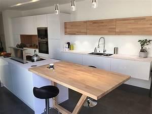 Table Plan De Travail Cuisine : un plan snack dans ma cuisine flip design boisflip ~ Melissatoandfro.com Idées de Décoration