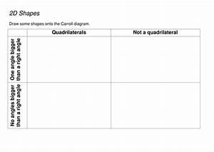 Carroll Diagram Quadrilateral Shape Sort By Mandem2014