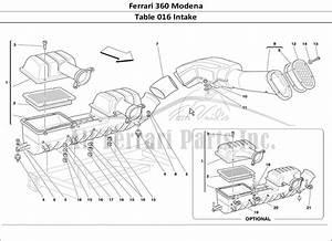 Buy Original Ferrari 360 Modena 016 Intake Ferrari Parts