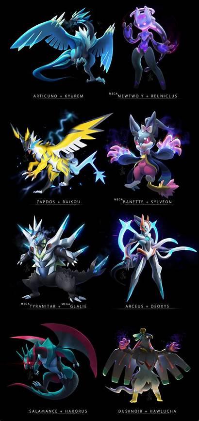 Pokemon Fusion Wallpapers Fusions Pokefusion Meme Kyurem