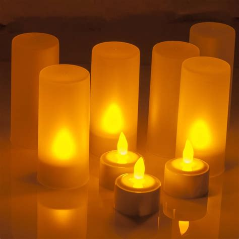 light candles rechargeable led candle light tealights candles yellow Led