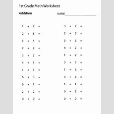 Easy Math Worksheets 1st Grade  Learning Printable  Math Worksheets For Kids  First Grade