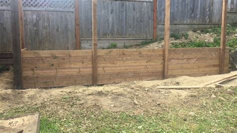 build  timber retaining wall youtube