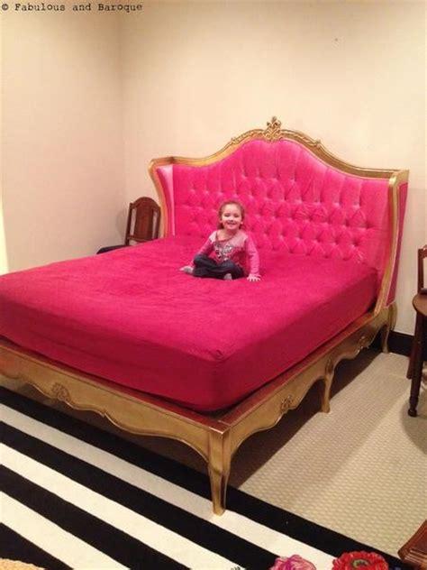 Upholstered Bed Pink by Amelie Tufted Pink Baroque Upholstered Bed Gold Leaf