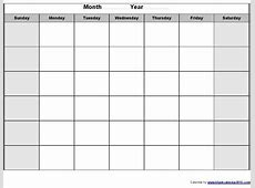 Monthly Fillable Calendar Printable Blank Calendar Design