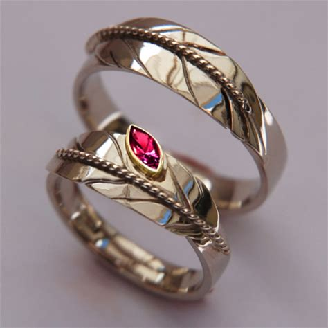 White Gold Eagle Feather Wedding Rings Set With Marquise Ruby. Renaissance Engagement Rings. Vitaly Rings. Diamond American Rings. Coloured Stone Engagement Rings. Comfortable Wedding Rings. Filigree Engagement Rings. One Carat Wedding Rings. Michael Beaudry Wedding Rings