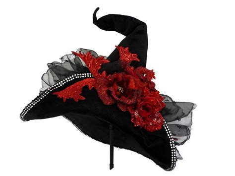 velvet witch hat witch hat witch costume hat black velvet witches hat