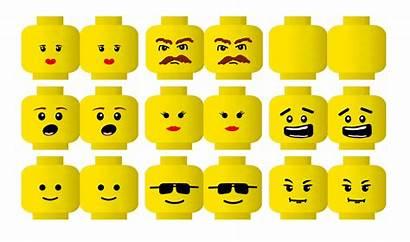 Lego Head Printable Clipart Clip Faces Face