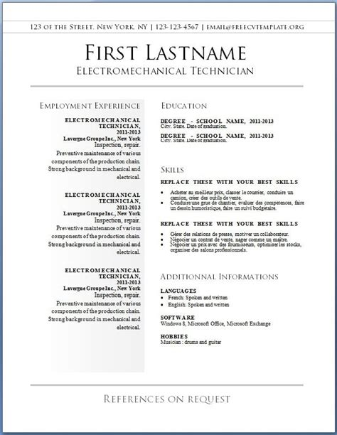 how to find resume template in microsoft word resume templates free 2017 resume builder