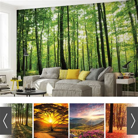forests nature flowers photo wallpaper mural ebay