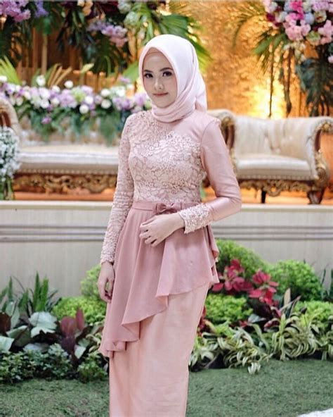 aneka model kebaya modern brokat muslim cantik