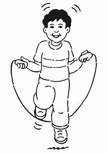 Coloring Page Rope Skipping Img 20958