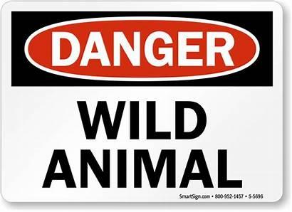Danger Animal Wild Sign Signs Wildlife Osha