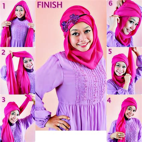 top  elegant tutorial hijab simple casual pictures