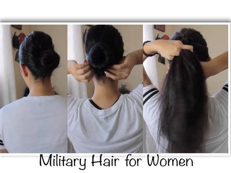 military hairstyles  women youtube