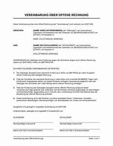 Offene Rechnung : vereinbarung ber offene rechnung vorlagen und muster ~ Themetempest.com Abrechnung