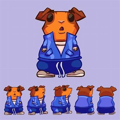 Turn Around Cartoony Character Redesign Pig Guinea