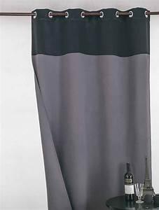 Rideau Bleu Gris : rideau occultant bicolore noir gris beige et blanc noir et beige taupe et blanc ~ Teatrodelosmanantiales.com Idées de Décoration