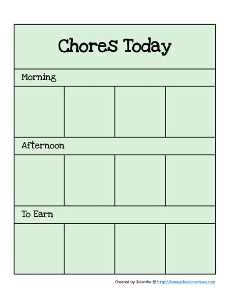 Chore Chart Template 43 Free Chore Chart Templates For Template Lab