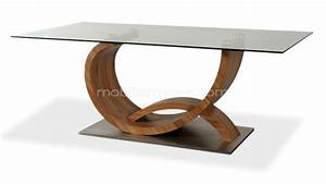 Table à Manger Verre Et Bois : table a manger design bois ~ Teatrodelosmanantiales.com Idées de Décoration