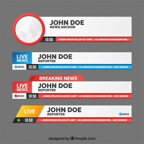banners redes sociales template pack of banners for breaking news vector free download