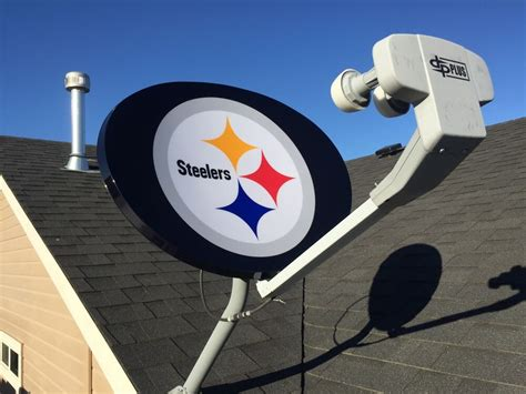 dish network nfl pittsburgh steelers satellite dish cover