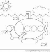 Submarine Coloring Marin Coloriage Yellow Sous Imprimer Beatles Dessin Marine Vie Colorier Dessiner Fishing Library Clipart Popular sketch template