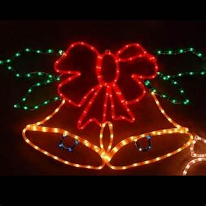 Decoration De Noel Exterieur Lumineuse : cloche lumineuse de noel multicolore 88x54cm decoration exterieur badaboum ~ Preciouscoupons.com Idées de Décoration