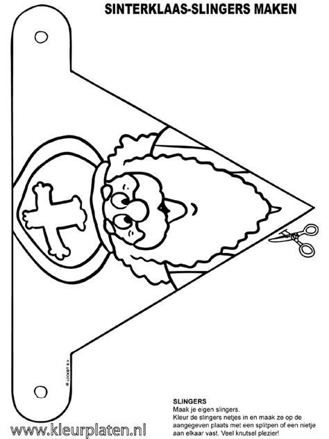 Kleurplaat Sinterklaas Peuters Vlaggetjes by Www Kleurplaten Nl Voor Iedereen Die Graag Kleurt Is