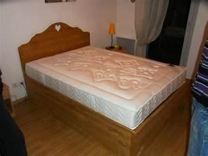 Lit 120x190 Avec Rangement : lit avec trappe rangement dessous vercors literie ~ Teatrodelosmanantiales.com Idées de Décoration
