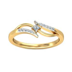 gold engagement rings cheap inexpensive engagement ring 0 25 carat princess cut on yellow gold jeenjewels