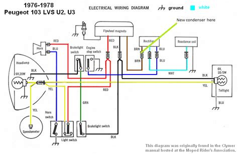 Moped Ignition Switch Wiring Diagram by Peugeot Wiring Diagrams Moped Wiki