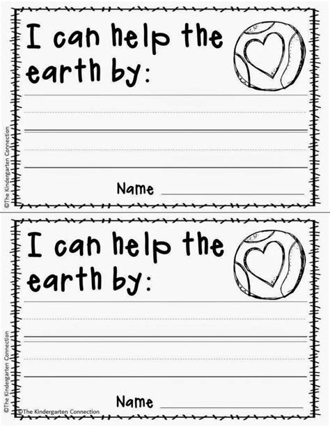 free printable earth day writing activity and craft 174 | eabc648cb8904d27926fd4644106a63c