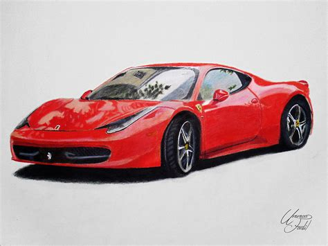ferrari drawing how to draw a ferrari 458 italia www imgkid com the