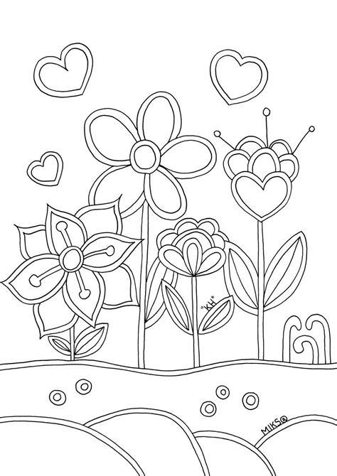 Bloem Kleurplaat Beterschap by Kleurplaat Beterschap Eenvoudig Kinderen Kleurplaat
