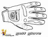 Golf Coloring Glove Pages Gloves Yescoloring Printable Sport Gusto Pga Sports sketch template