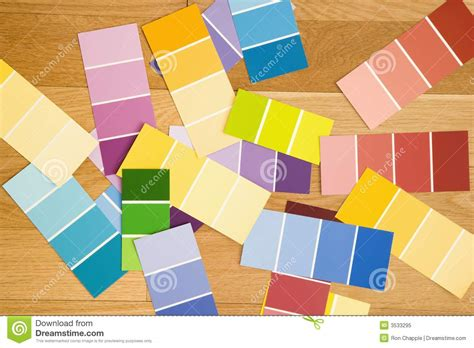 color paint swatches royalty free image