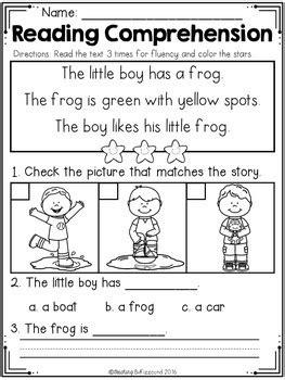 kindergarten reading comprehension spring edition