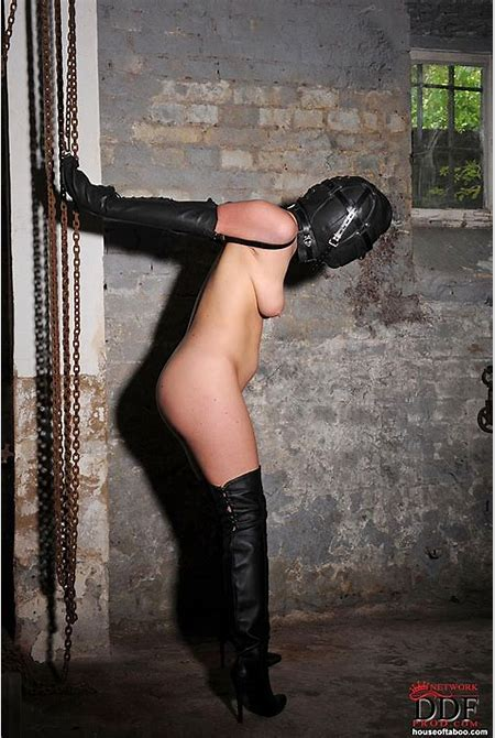 Sex Previews - Janette nude bdsm slavegirl on high boots bound with full mask