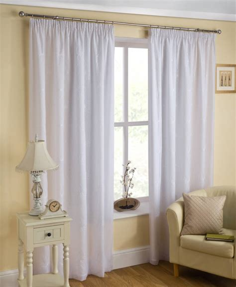 Voile Curtains by Malaga Lined Voile Curtains White Or Price Per Pair