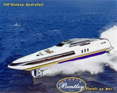 Hydrofoil Yacht Design by Bentley Yachts Advanced Hull Designs