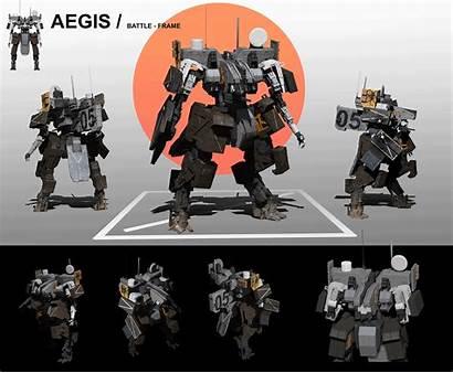 Aegis Robot Deviantart Concept Sttheo Armor Robots