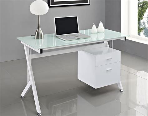 Glass Desk Ikea Popular  Modern Furniture Office Glass