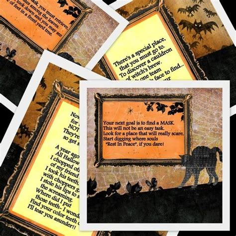 28 halloween scavenger hunt riddles printable