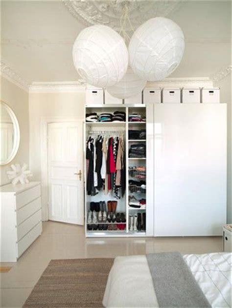white storage boxes  top  ikea wardrobe love