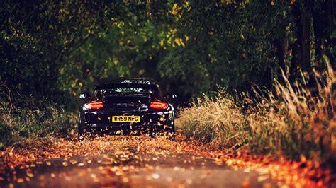 Fall, Car, Vehicle, Road, Porsche, Black Cars