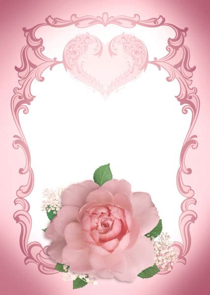 wedding invitation frame rose stock photo  art